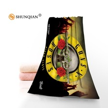 Custom Guns N' Roses Towels Microfiber Fabric Popular Face Towel/Bath Towel Size 35x75cm, 70x140cm Print your picture