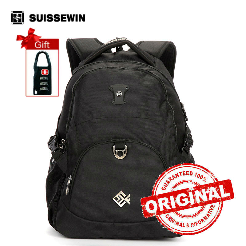 Suissewin Brand Backpack Youth Lightweight Urban Backpack for Young Boys and Girls 15 Muiti-pocket Laptop Bag Back Pack SN7035 <br>