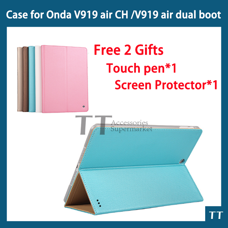 PU Leather Case for New ONDA V989 AIR Octa core / V919 AIR dual boot/ V919 AIR CH 9.7 inch Tablet PC v919 3g air dual boot case<br><br>Aliexpress