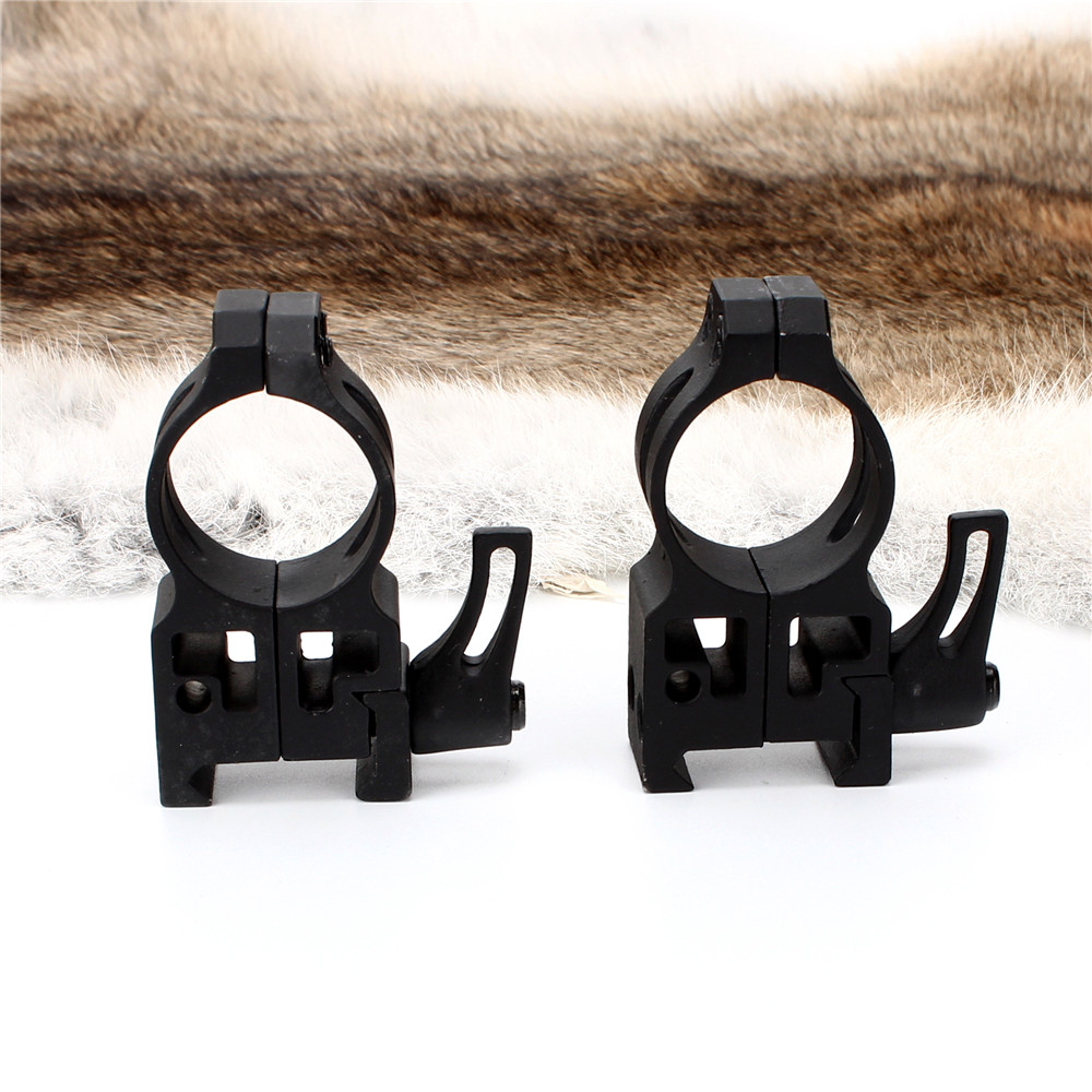 ohhunt 25.4mm 1 inch 2PCs High Profile Cast Steel Quick Release Picatinny Weaver Scope Mounts Rings Tactical Hunting Accessories (2)