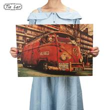 TIE LER Vintage Signs Bus Retro Painting Car Bar Antique Wall Decoration Poster Wall Sticker(China)