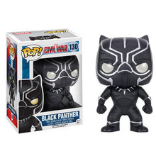 10cm 1PCS Funko Pop Black Panther Civil War Model PVC Action Figure Collection Toy Kids Gifts Come With Retail Box