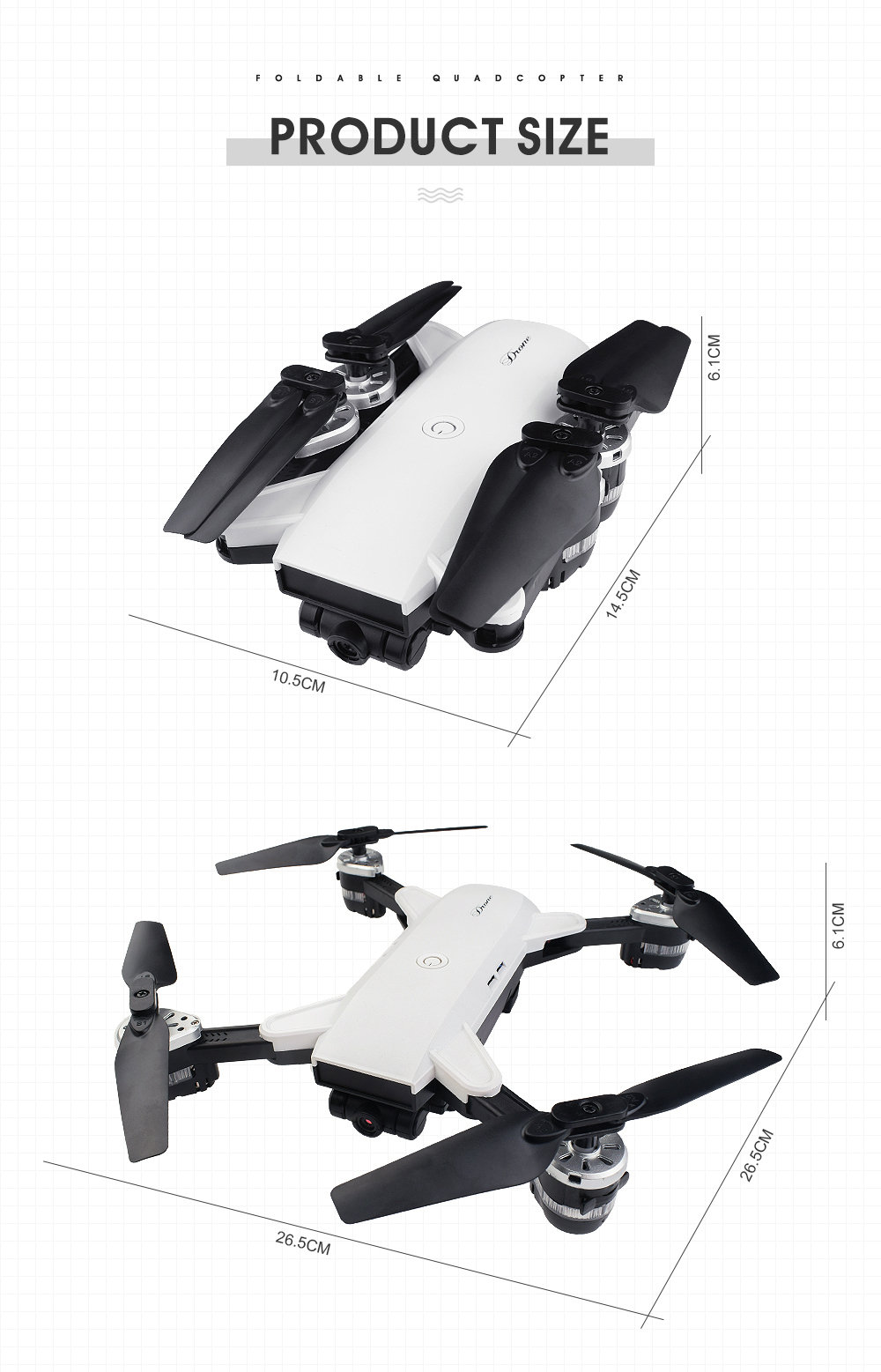 19.New 2.4Ghz 4ch foldable FPV rc drone with 2MP wide angle wifi camera