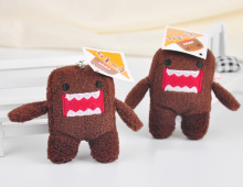 1Piece 6CM Plush Stuffed Domo Animal Plush toy doll ; String Rope Pendant Plush Toys(China)