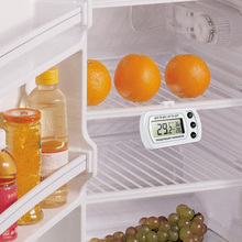 Fashion Freezer Thermometer with Hook Waterproof LCD Digital Display Refrigerator Thermometers Function For Home Fridge(China)