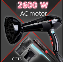1pcs/lot 2600w high power Hair dryer machine professional household hair dryer negative ion hair styling tools(China)