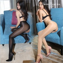Buy 8D crotchless elastic magical stockings,high elasticity,anti hook sexy oil open-crotch high Shiny pantyhose, shining Gloss hose