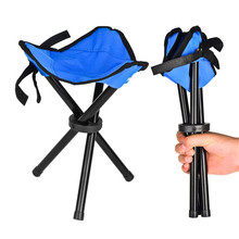 Outdoor Camping Tripod Folding Stool Chair Fishing Foldable Portable Fishing Mate Chair