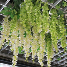 APRICOT 30cm Home artificial hydrangea party romantic wedding decoration garlands of artificial Silk flower string