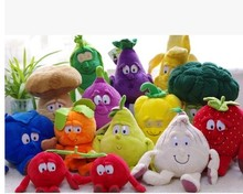 "Free shipping New Fruits Vegetables cherry Mushroom watermelon Blue berry 9"" Soft Plush Doll toy(China)"