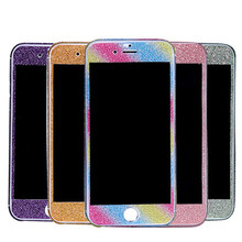 For iphone 6 6s Plus 5 5S SE 5C Bling Glitter Phone Protective Sticker Bling 360 Degree Full Body Decal Skin Wrap Phone Case(China)