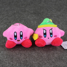 2Style Anime Kirby Mini Chain Soft Plush Doll Pendant Stuffed Toy Super Cute Plush Keychain Keyring Pendant