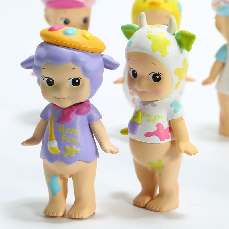 6pcs set Sonny Angel Mini Figure 2018 Version  Happy Easter Series PVC Action Figures Toys Dolls Gift for Kids Children  (4)