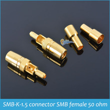 Sindax SMB-K-1.5 connector SMB female adapter straight head 50 Ohm  Crimp type suitable for cable RG316 RG174 Drop ship 10PC/lot
