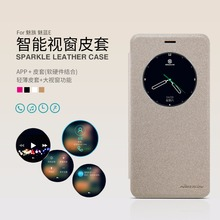 For Meizu M3e Case NILLKIN Brand Sparkle Super Flip Cover Leather Case For Meizu M3E Smart Sleep Wake Function Phone Case