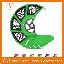 Front Brake Disc Rotor Guard Cover Protector For KAWASAKI KX125 KX250 2006 07 08 KXF250 KX250F KX450F 06-17 KXF450 KLX450R 08-15(China)