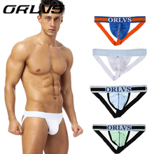 Buy 2018 New 4pcs ORLVS Gay Men Underwear Jockstrap Sissy Men Thong String Sexy Gay Underwear Mens Thongs G Strings Homme OR96