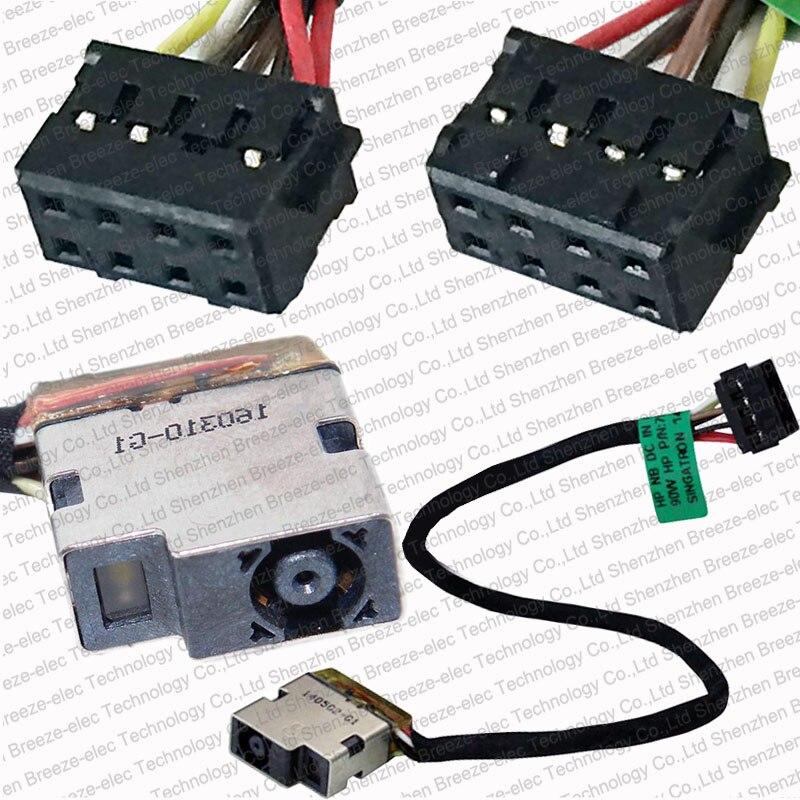 10~100 pieces/lot original NEW Laptop DC Power Jack socket Cable connector wire for HP Pavilion 15-E 097sa 15t-e 17-e 709802-YD1<br>
