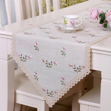 yazi Embroidered  Flower Leaf Lace Table Runner Wedding Party Kitchen Home Table Decor  5 Size