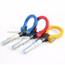 LYJ Benen Racing Tow Hook ( Gold/Red/Blue/Black) Aluminum Towing Bar Screw Tow Eye For European Car