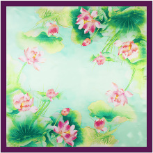 90cm * 90cm new scarf Hangzhou West Lake Chinese wind Lotus flower scarf towel