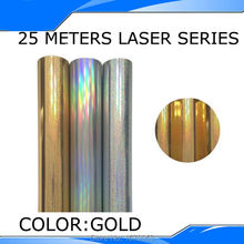 Free Fast Shipping PET Laser Heat Transfer Vinyl Film Cutting Plotter Vinyl Gold Color 25 Meters/Roll(China)