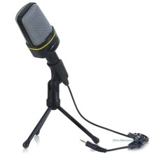 Mesuvida Classic Fashionable Good Quality Unidirectional Dynamic Condenser Sound Microphone with Stand Holder for MSN Skype