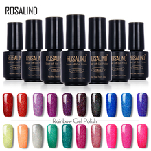 ROSALIND Black Bottle 7ML Neon Nail Gel Polish Rainbow Gel Nail Polish Nail Art UV LED Gel Long-Lasting Lacquer Glue