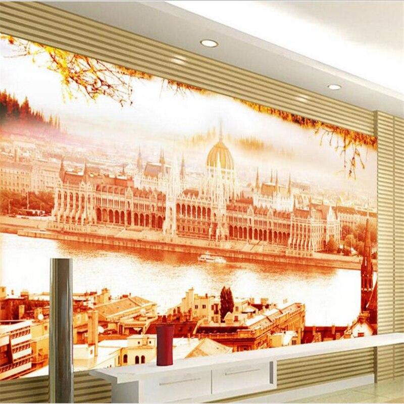 Large - scale custom wallpaper European architectural landscape design living room TV backdrop 3d wall murals wallpaper landscap<br><br>Aliexpress