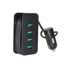 Moizen 4 Port USB Mobile Phone Charger 4.8A ABS Fast Charging Power- Adapter For Universal Phone Tablet PC Car Charger(China)