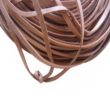 10yards 3mm Flat Soft Natural Real Leather Cord For Bracelets & Bangles & pulseras Jewelry Making(China)