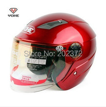 dark red  Motorbike half face YOHE 837 Helmets ,YH-837 cool motorcycle electric bicycle headpiece safety helmet scoote dirt bike