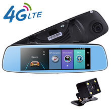 "new 4G Car DVR 7.84"" Touch ADAS Remote Monitor Rear view mirror with DVR and camera Android Dual lens 1080P WIFI dashcam(China)"