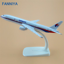 FANNIYA 16cm Alloy Metal Air Malaysia Airlines Airplane Model Boeing 777 B777 Airways Plane Model w Stand Aircraft Craft Gift