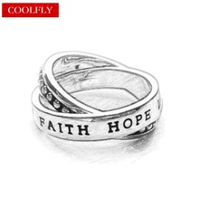 Love Faith Hope Double Rings Thomas Style Glam Silver Color Finger Rings For Women & Men Ts Soul Fashion Jewelry Gifts Bague