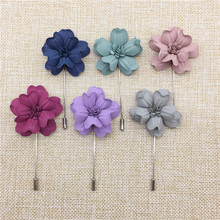 Fashion Jewelry Brooch 5Pcs/Lot Flower Brooch Handmade Brooches For Women Men Lapel Pin For Suits Modern Corsage Lapel Pin Women(China)