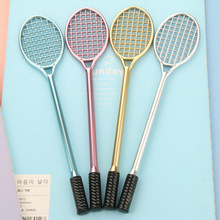 5Pcs/Set High Quality Badminton Racket Gel Pen Creative Students Stationery Neutral Pens Office School Supplies 186