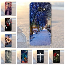 For Samsung Galaxy A3 2016 A310 A310F Animal Scenery City Pattern Rubber TPU Soft Phone Cover Case For Samsung A3 2016 Fundas