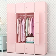 Bedroom Furniture Wardrobe Home Storage Cabinet Wardrobe Waterproof Closet Assembly Reinforcement Combination Simple Wardrobe