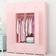 Bedroom Furniture Wardrobe Home Storage Cabinet Wardrobe Waterproof Closet Assembly Reinforcement Combination Simple Wardrobe(China)