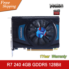 YESTON Graphics Card AMD Radeon R7 240 4GB GDDR5 128bit HDMI VGA DVI 320SP Original Desktop Graphics Card