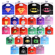 1pc Capes Xmas Birthday Gift Kids Party Cosplay Superman Spiderman Darth Costume For Kids Superhero Capes Batman Children Toys