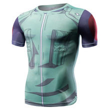 Naruto Anime Tshirt Armor Compression Shirt Men Fitness Bodybuilding Fashion Street Style Culture Green O-neck Short Sleeve Coat