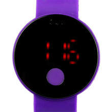 9 & cheap  Fashion Boy Mens Womens Circular Pattern Silicone LED Sport Wrist Watch relogio feminino #250717