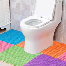 beibehang Durable Love Foot Embroidered Bathroom Pad Toilet Shower Room Kitchen Hollow Anti-skid Pad Can Cut DIY 1 set of 4pcs(China)