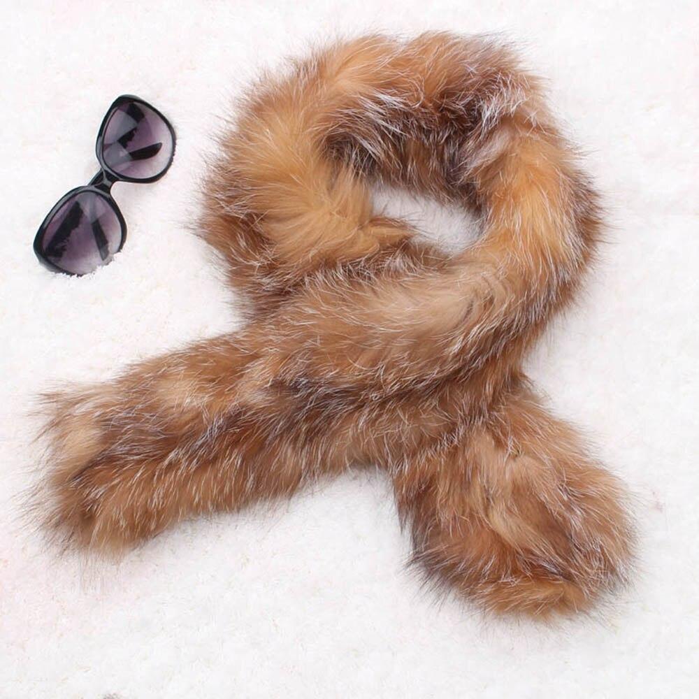 fox fur scarf red fox color