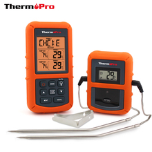 ThermoPro TP-20 Remote Wireless Digital BBQ, Oven Thermometer Home Use Stainless Steel Probe Large Screen with Timer