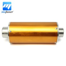 Mofaner Universal Motorcycle Scooter 28mm Gold Exhaust Muffler Silencer Pipe For 50 110 125 CC PIT DIRT BIKE(China)