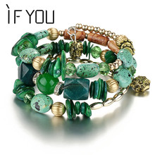 Buy IF YOU Bohemian Beads Crystal Charms Bracelets Women Ethnic Tibet Multilayer Imitation Natural Stone Bracelets &Bangles Gift for $1.93 in AliExpress store