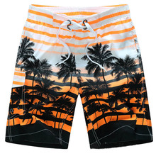 Hawaiian Beach Shorts Men Striped Man Board Shorts Mesh Lined Boardshorts Swimwear Trunks Quick Dry Surfboard(China)